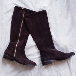 J Crew Harper Suede Brown Tall Riding Boots